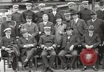 Image of Civilian businessmen and officials pose with Naval officers aboard ship Virginia United States USA, 1925, second 27 stock footage video 65675060899