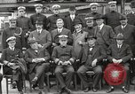 Image of Civilian businessmen and officials pose with Naval officers aboard ship Virginia United States USA, 1925, second 28 stock footage video 65675060899