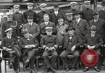 Image of Civilian businessmen and officials pose with Naval officers aboard ship Virginia United States USA, 1925, second 29 stock footage video 65675060899