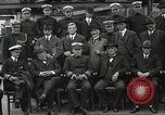 Image of Civilian businessmen and officials pose with Naval officers aboard ship Virginia United States USA, 1925, second 30 stock footage video 65675060899