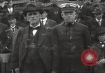 Image of Civilian businessmen and officials pose with Naval officers aboard ship Virginia United States USA, 1925, second 32 stock footage video 65675060899