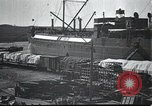 Image of US Army guarding supply ship in Siberia Soviet Russia World War 1 Siberia Soviet Union, 1918, second 5 stock footage video 65675060926