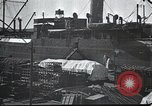 Image of US Army guarding supply ship in Siberia Soviet Russia World War 1 Siberia Soviet Union, 1918, second 7 stock footage video 65675060926