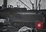 Image of US Army guarding supply ship in Siberia Soviet Russia World War 1 Siberia Soviet Union, 1918, second 9 stock footage video 65675060926