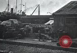 Image of US Army guarding supply ship in Siberia Soviet Russia World War 1 Siberia Soviet Union, 1918, second 48 stock footage video 65675060926