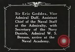 Image of British Navy officers visit US Naval Academy Annapolis Maryland USA, 1918, second 39 stock footage video 65675060987