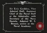 Image of British Navy officers visit US Naval Academy Annapolis Maryland USA, 1918, second 40 stock footage video 65675060987