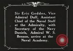 Image of British Navy officers visit US Naval Academy Annapolis Maryland USA, 1918, second 41 stock footage video 65675060987