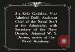 Image of British Navy officers visit US Naval Academy Annapolis Maryland USA, 1918, second 47 stock footage video 65675060987