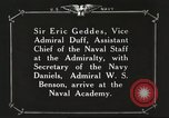 Image of British Navy officers visit US Naval Academy Annapolis Maryland USA, 1918, second 51 stock footage video 65675060987