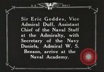 Image of British Navy officers visit US Naval Academy Annapolis Maryland USA, 1918, second 52 stock footage video 65675060987