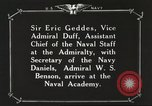Image of British Navy officers visit US Naval Academy Annapolis Maryland USA, 1918, second 53 stock footage video 65675060987