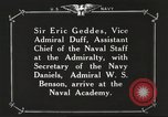 Image of British Navy officers visit US Naval Academy Annapolis Maryland USA, 1918, second 54 stock footage video 65675060987