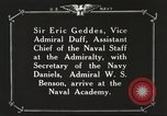 Image of British Navy officers visit US Naval Academy Annapolis Maryland USA, 1918, second 55 stock footage video 65675060987