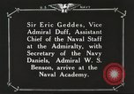 Image of British Navy officers visit US Naval Academy Annapolis Maryland USA, 1918, second 58 stock footage video 65675060987