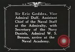 Image of British Navy officers visit US Naval Academy Annapolis Maryland USA, 1918, second 59 stock footage video 65675060987