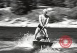 Image of Dog water skiing California United States USA, 1934, second 23 stock footage video 65675061011
