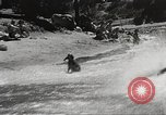 Image of Dog water skiing California United States USA, 1934, second 57 stock footage video 65675061011