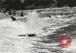 Image of Dog water skiing California United States USA, 1934, second 60 stock footage video 65675061011