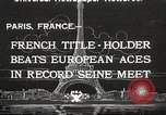 Image of swimmer Jean Taris Paris France, 1934, second 1 stock footage video 65675061014