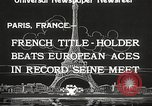 Image of swimmer Jean Taris Paris France, 1934, second 6 stock footage video 65675061014
