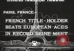 Image of swimmer Jean Taris Paris France, 1934, second 7 stock footage video 65675061014