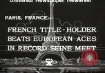 Image of swimmer Jean Taris Paris France, 1934, second 9 stock footage video 65675061014