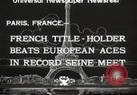Image of swimmer Jean Taris Paris France, 1934, second 10 stock footage video 65675061014