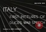Image of Benito Mussolini Venice Italy, 1945, second 18 stock footage video 65675061113