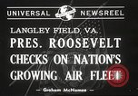 Image of Franklin D Roosevelt Hampton Virginia USA, 1940, second 1 stock footage video 65675061120