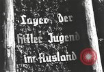 Image of Hitler Youth camp Offenburg Germany, 1937, second 16 stock footage video 65675061201