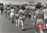 Image of bathing suit fashion parade Asbury Park New Jersey USA, 1922, second 15 stock footage video 65675061268