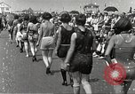 Image of bathing suit fashion parade Asbury Park New Jersey USA, 1922, second 19 stock footage video 65675061268