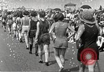 Image of bathing suit fashion parade Asbury Park New Jersey USA, 1922, second 21 stock footage video 65675061268