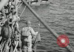 Image of US forces landing on Normandy beaches on D-Day France, 1944, second 12 stock footage video 65675061279
