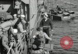 Image of US forces landing on Normandy beaches on D-Day France, 1944, second 27 stock footage video 65675061279
