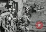 Image of US forces landing on Normandy beaches on D-Day France, 1944, second 28 stock footage video 65675061279