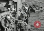 Image of US forces landing on Normandy beaches on D-Day France, 1944, second 29 stock footage video 65675061279