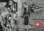 Image of US forces landing on Normandy beaches on D-Day France, 1944, second 33 stock footage video 65675061279
