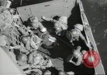 Image of US forces landing on Normandy beaches on D-Day France, 1944, second 49 stock footage video 65675061279