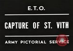Image of 7th Armored Division Saint Vith Belgium, 1945, second 1 stock footage video 65675061636