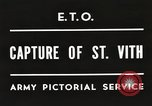 Image of 7th Armored Division Saint Vith Belgium, 1945, second 2 stock footage video 65675061636