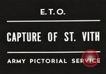 Image of 7th Armored Division Saint Vith Belgium, 1945, second 7 stock footage video 65675061636