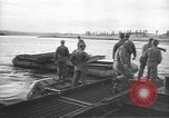 Image of American Army Corps of engineers rebuilding a bridge in South Korea during hostilities Korea, 1951, second 12 stock footage video 65675061713
