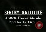 Image of missile spotting satellite Cape Canaveral Florida USA, 1960, second 1 stock footage video 65675061717