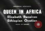 Image of Queen Elizabeth Addis Ababa Ethiopia, 1965, second 19 stock footage video 65675061777