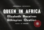 Image of Queen Elizabeth Addis Ababa Ethiopia, 1965, second 20 stock footage video 65675061777