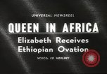 Image of Queen Elizabeth Addis Ababa Ethiopia, 1965, second 21 stock footage video 65675061777
