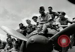 Image of Royal Netherlands Indies pilots Singapore Kallang Airfield, 1941, second 14 stock footage video 65675061822