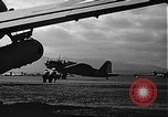 Image of U.S. military aircraft on Ford Island Pearl Harbor Hawaii USA, 1942, second 57 stock footage video 65675061838